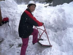除雪ボランティアに出動!
